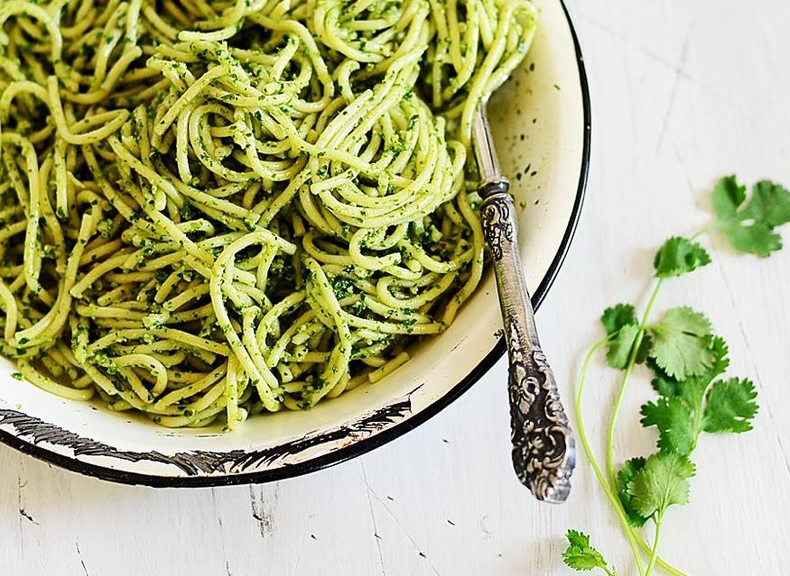 шпинат со спагетти со сливками рецепты-хв7