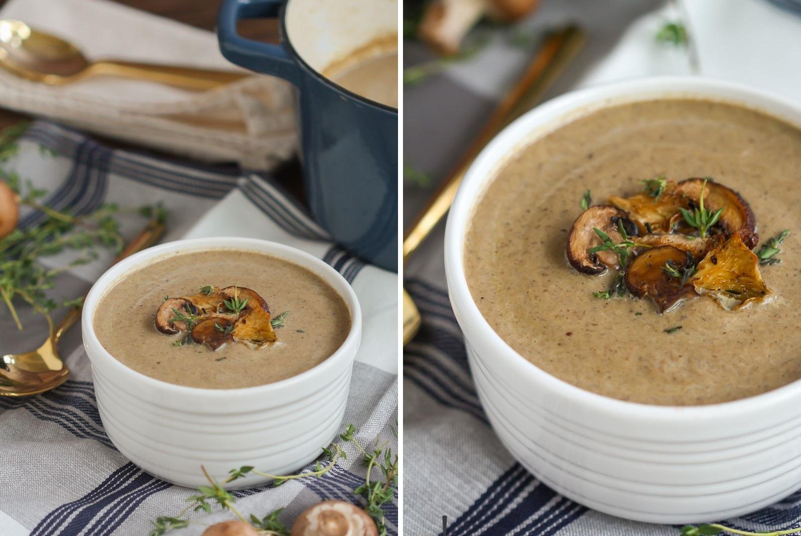 Как сделать дома грибной суп пюре