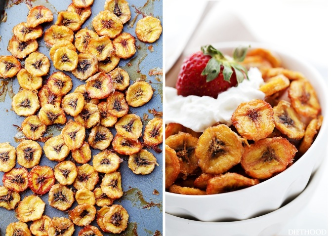 Baked-Banana-Chips